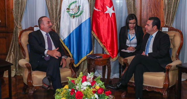 Dışişleri Bakanı Çavuşoğlu Guatemala'da