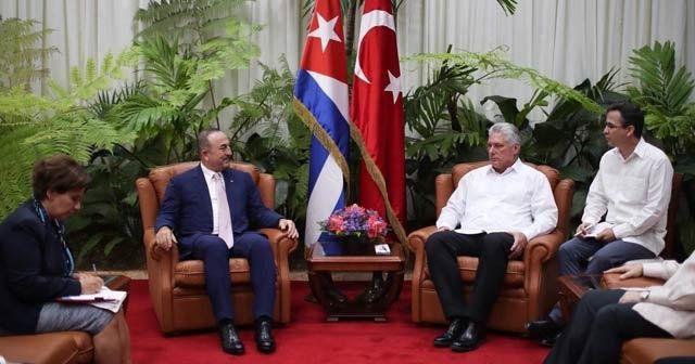 Dışişleri Bakanı Çavuşoğlu Küba Devlet Başkanı Canel ile görüştü