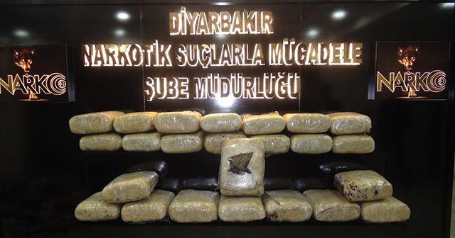 Diyarbakır'da 179 kilogram esrar ele geçirildi