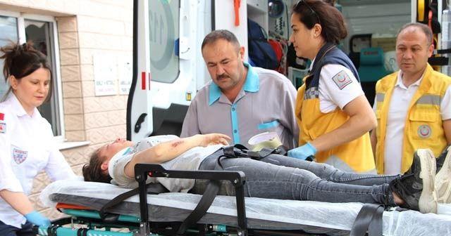 Elektrikli bisiklet devrildi, 13 yaşındaki sürücü yaralandı