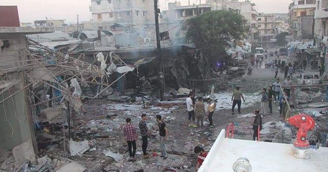 Esad rejimi iftar öncesi pazar yerini bombaladı: 5 ölü, 20 yaralı