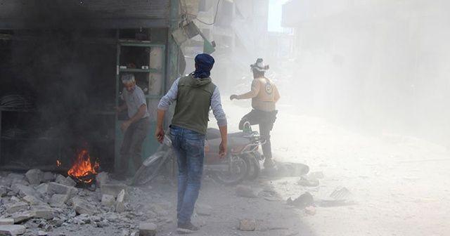 İdlib'de iftardan önce hava saldırısı : 2 ölü, 11 yaralı
