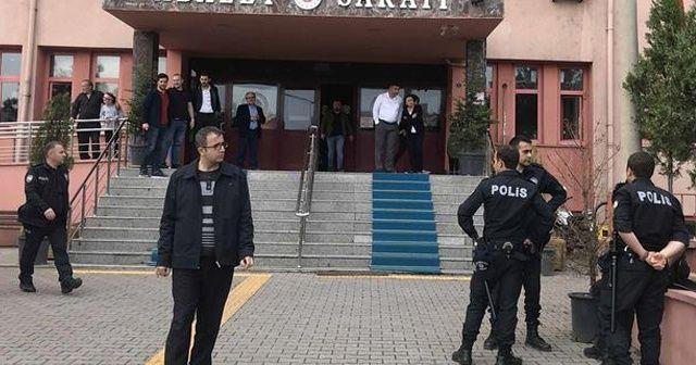 Karabük'te adliye çıkışında kavga