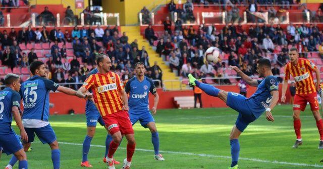 Kayserispor Süper Lig'de kalmayı garantiledi