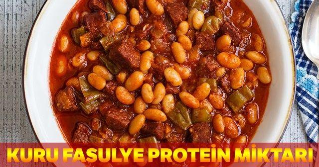 Kuru Fasulye Protein Miktarı, Kuru Fasulye Besin Değeri
