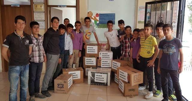 Öğrenciler Ramazan yardımı dağıttı