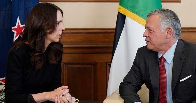 Ürdün kralı, Yeni Zelanda Başbakanı Ardern ile görüştü