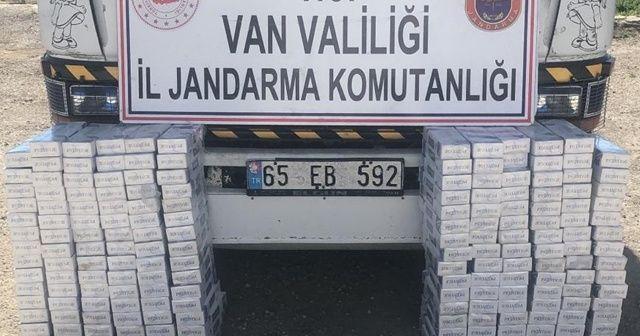 Van'da bin 900 paket kaçak sigara ele geçirildi