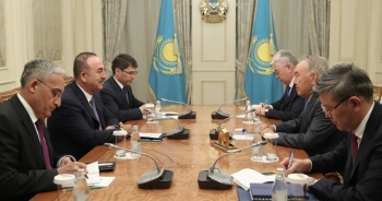 Çavuşoğlu, Nazarbayev ve Tokayev tarafından kabul edildi