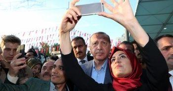 Cumhurbaşkanı Erdoğan'a yoğun ilgi