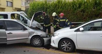 Denizli'de mahalleliyi ayağı kaldıran trafik kazası