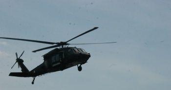 Jandarmadan helikopter destekli denetim