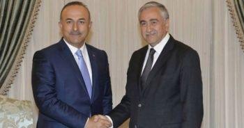 KKTC Cumhurbaşkanı Akıncı, Bakan Çavuşoğlu'nu kabul etti