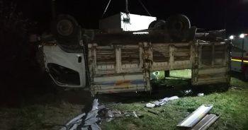 Mültecileri taşıyan kamyon devrildi: 5 ölü, 37 yaralı