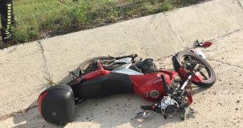 Sivas'ta Motosiklet kazası:2 yaralı