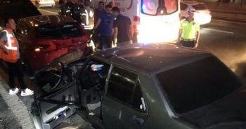 TEM Otoyolunda yaşanan iki ayrı kazada 9 kişi yaralandı