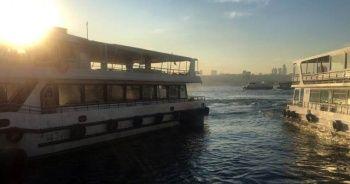 Üsküdar'da korkutan tekne yangını kamerada