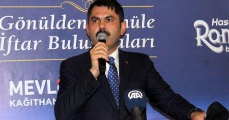 Bakan Kurum: 'Kağıthane'de bu sene içerisinde de inşaat sürecini başlatacağız'