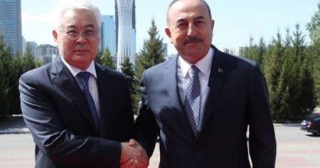 Çavuşoğlu, Kazakistanlı mevkidaşı Atamkulov ile görüştü