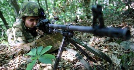 Gümüşhane'de terör örgütü PKK'ya ait 3 depo imha edildi