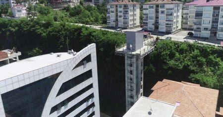 Karadeniz'de hiçbir şey imkansız değildir: Bir mahalleden bir mahalleye asansörlü geçiş