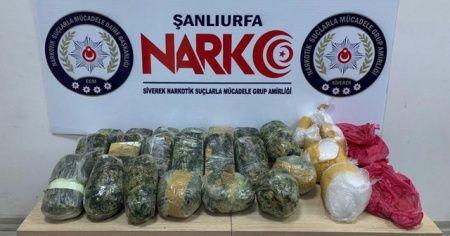 Şanlıurfa'da 13 kilo uyuşturucu ele geçirildi