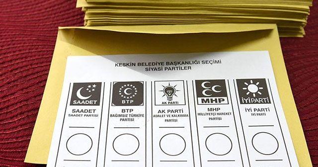 3 ilçe ve bir beldede yenileme seçimlerinde oy verme işlemi başladı