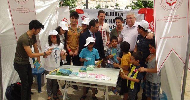 Çocuk işçiliğinin önlenmesi için mesaj verdiler