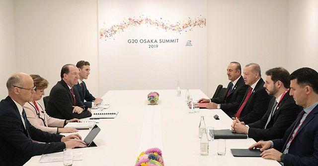 Cumhurbaşkanı Erdoğan, Dünya Bankası Başkanı Malpass'ı kabul etti