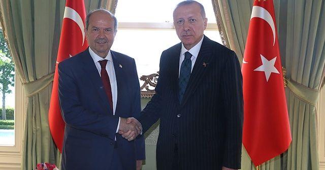 Cumhurbaşkanı Erdoğan KKTC Başbakanı Tatar'ı kabul etti