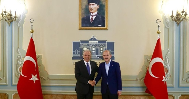 İçişleri Bakanı Soylu, AB Komiseri Avramopoulos'u kabul etti