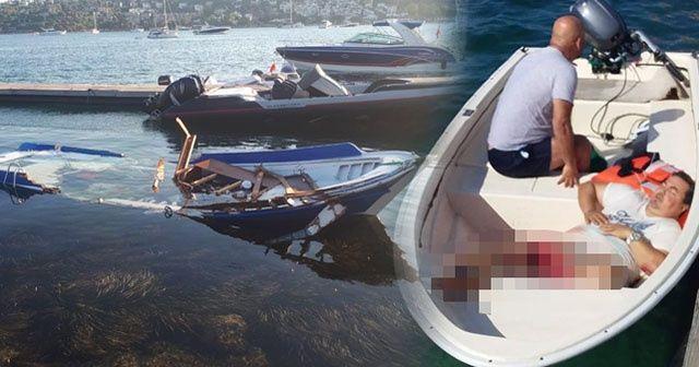 Muhabirleri taşıyan tekneye sürat teknesi çarptı, kaptanın ayağı koptu