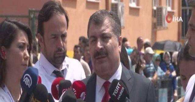 Sağlık Bakanı Fahrettin Koca, oyunu kullandı