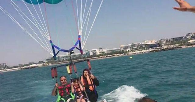 Tekneye bağlı paraşütle 50 metreden denize düşen Filistinli turist öldü