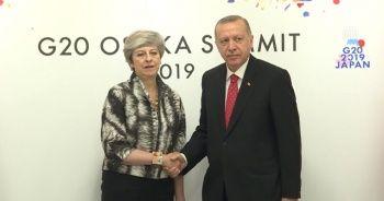 Cumhurbaşkanı Erdoğan, İngiltere Başbakanı May ile görüştü