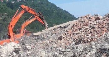 Fırtına Vadisi'nde tebligat engeline takılan yıkımlar bugün yeniden başladı