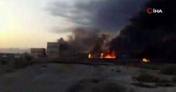 İran'da limanda yangın: 1 ölü