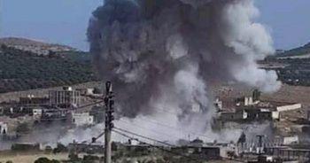 Suriye ve Rus savaş uçakları İdlib'i bombaladı: 5 ölü