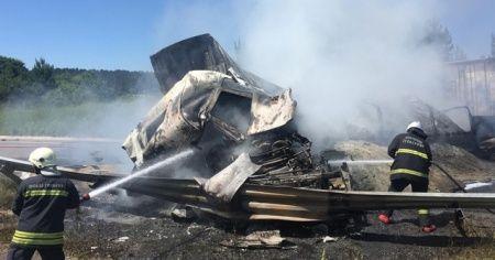 Bolu'da zincirleme trafik kazası: Araçlar yandı, otoyol çift yönlü ulaşıma kapatıldı