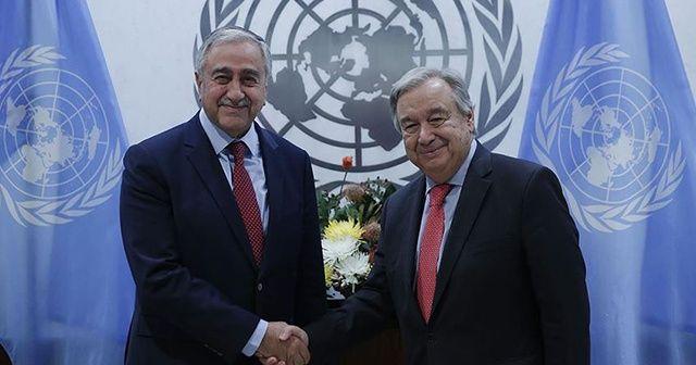 Akıncı, BM Genel Sekreteri Guterres ile görüştü