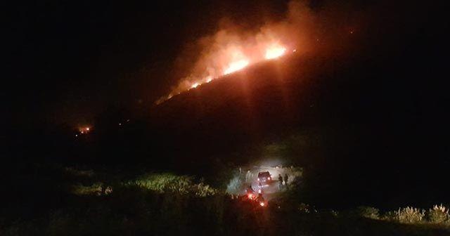 Aydın'da yangın! Makilik alanda başlayan yangın ormana doğru ilerliyor