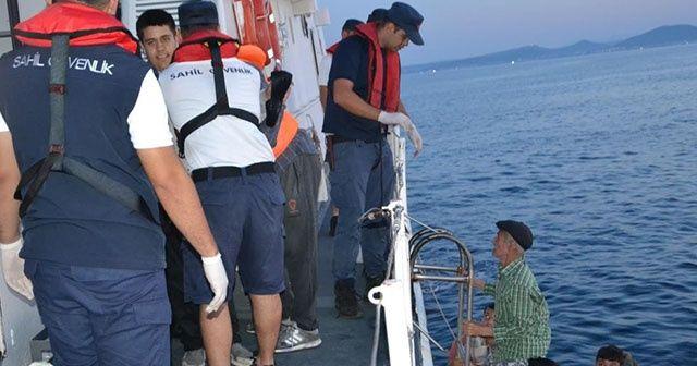 Ayvalık açıklarında 40 göçmen yakalandı