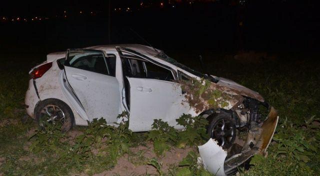 Azerbaycanlı öğrenciler kiraladıkları otomobil ile kaza yaptı: 4 yaralı