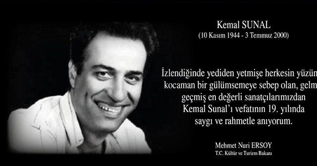 Bakan Ersoy'dan Kemal Sunal paylaşımı
