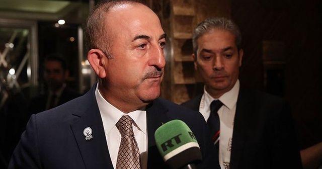 """Çavuşoğlu: """"İdlib'deki çatışmaların durması için Rusya'yla birlikte sorumluluğumuz var"""""""