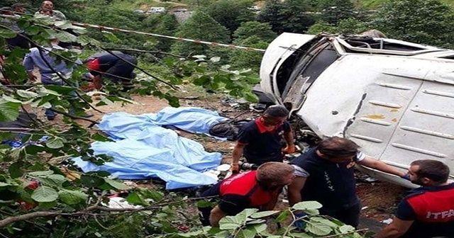 Giresun'da minibüs şarampole yuvarlandı: 6 ölü, 5 yaralı