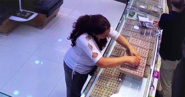 Kadıköy'de tırnakçı kadının, sahte alyansla yaptığı hırsızlık kamerada