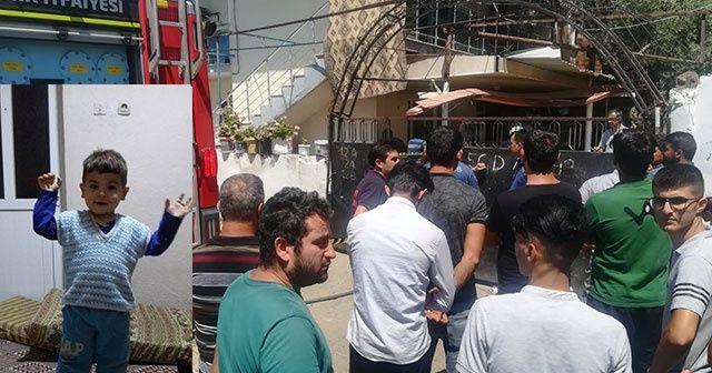 Minik Bakican yangında hayatını kaybetti