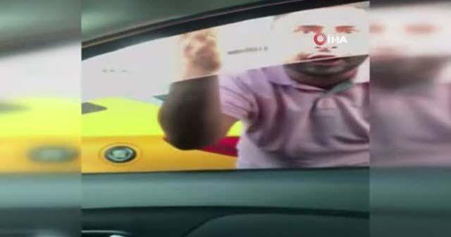 Taksici trafikte tehditler savurdu