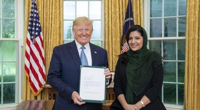 Trump, Suudi Arabistan'ın ilk kadın büyükelçisini kabul etti